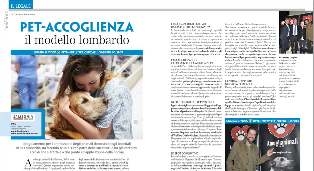 animali domestici negli ospedali